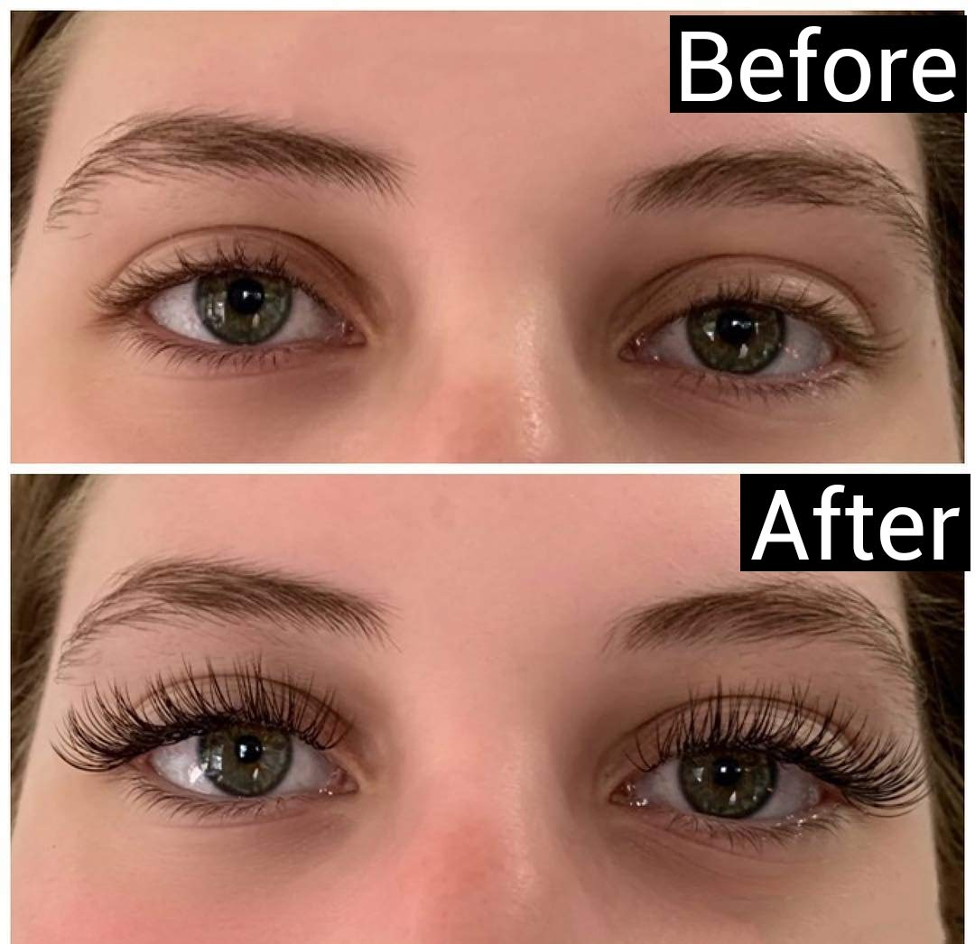 Before - After Eyelash Extensions 77373